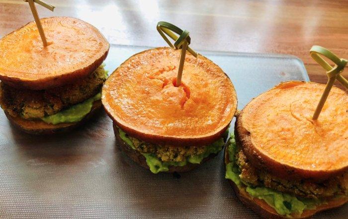 Süßkartoffel-Falafel-Burger